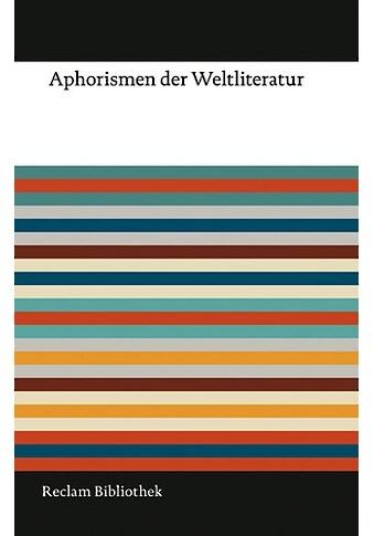 Buch »Aphorismen der Weltliteratur / Friedemann Spicker« kaufen