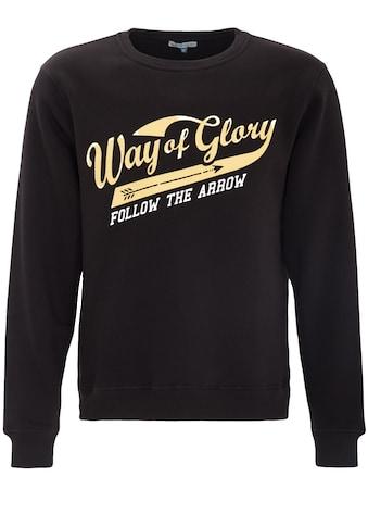 Way of Glory Sweatshirt, mit gummiertem Vintage Logo Druck kaufen