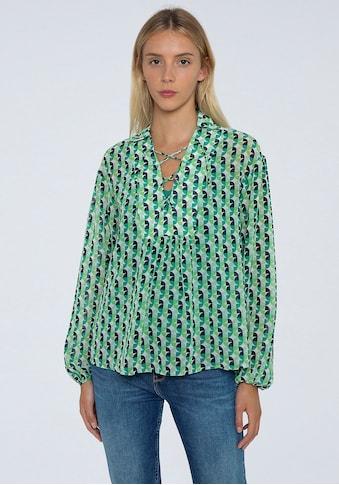 Pepe Jeans Schlupfbluse »ANDREA«, mit geometrischem allover Print und Bindedetail kaufen