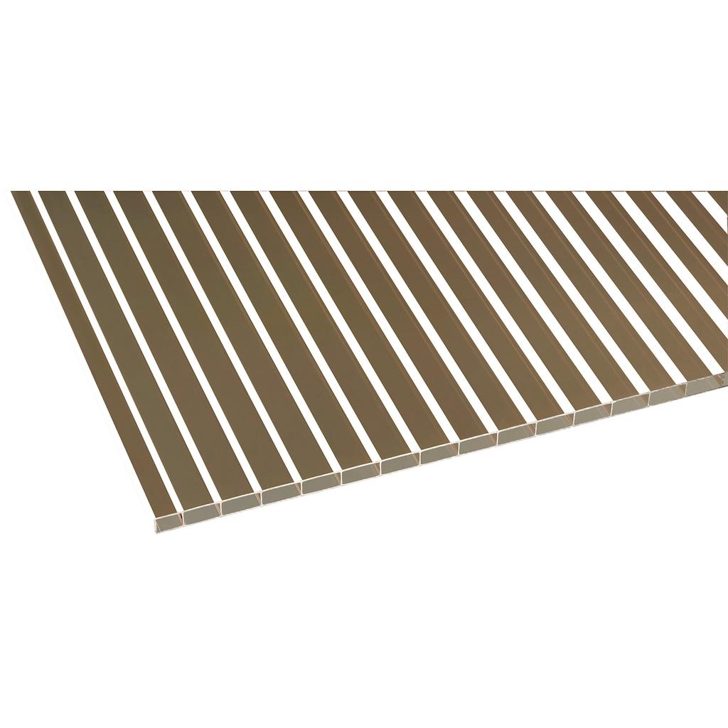 GUTTA Terrassendach »Premium«, BxT: 410x406 cm, Dach Acryl bronce