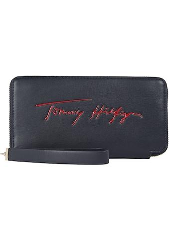 Tommy Hilfiger Geldbörse »ICONIC TOMMY LRG ZA SIGN«, mit Handschlaufe kaufen