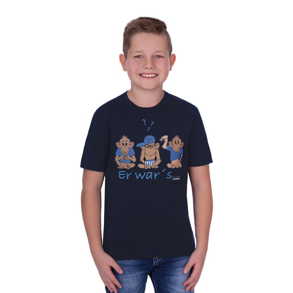 Trigema Lustiges Kinder T-Shirt mit Druckmotiv