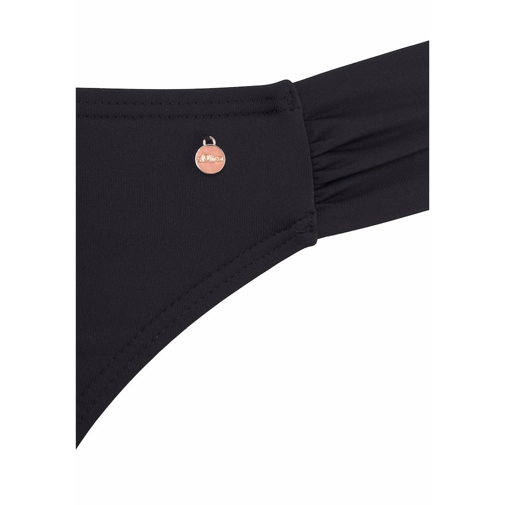 s.Oliver Beachwear Bügel-Bandeau-Bikini, mit Raffung