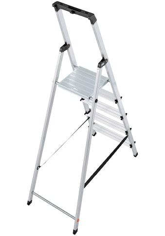 KRAUSE Stehleiter »Solidy«, Aluminium, 1x5 Stufen, Arbeitshöhe ca. 305 cm kaufen
