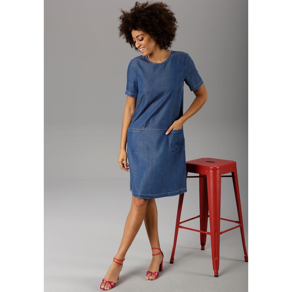 Aniston CASUAL Jeanskleid, aus weicher Tencel-Qualität - NEUE KOLLEKTION