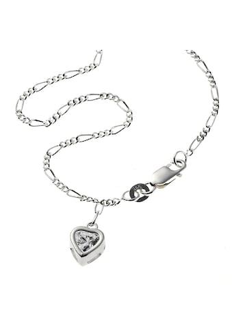 Zeeme Fußkette »925/- Sterling Silber Herz Zirkonia«, Fußkette kaufen