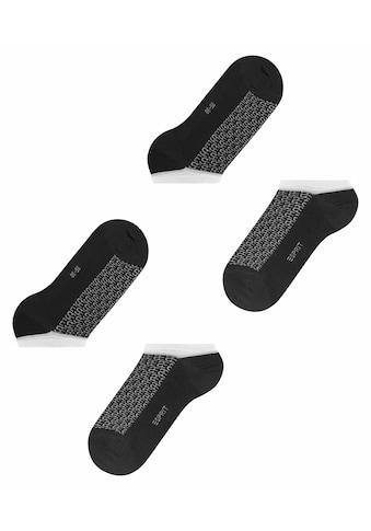 Esprit Sneakersocken »Monogram 2-Pack«, (2 Paar), aus Biobaumwolle kaufen