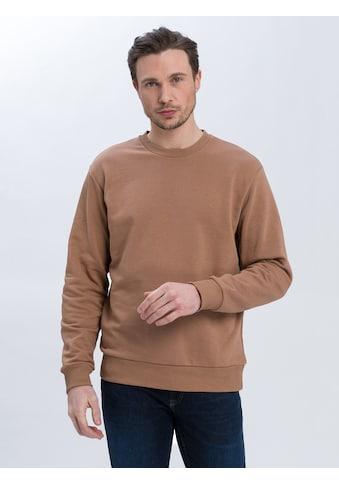 Cross Jeans® Sweatshirt »25260«, Monochromer Sweater kaufen
