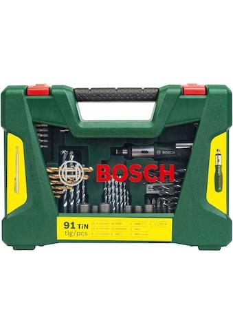 BOSCH Bohrer- und Bit-Set »V-Line Box«, (Set, 91 tlg.) kaufen