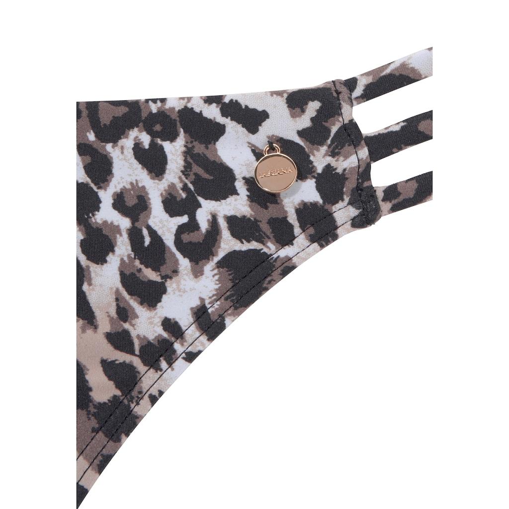 LASCANA Triangel-Bikini, mit Leo-Print und Push-Up-Effekt