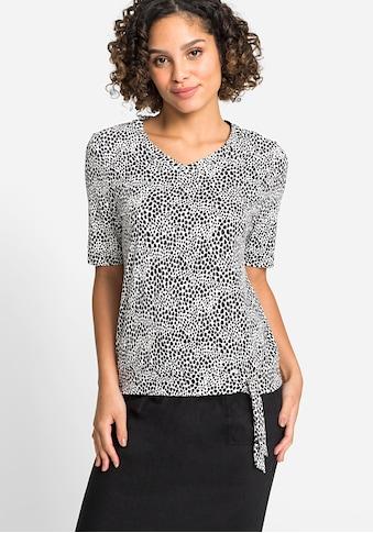 Olsen V-Shirt, mit Bindeband am Saum kaufen