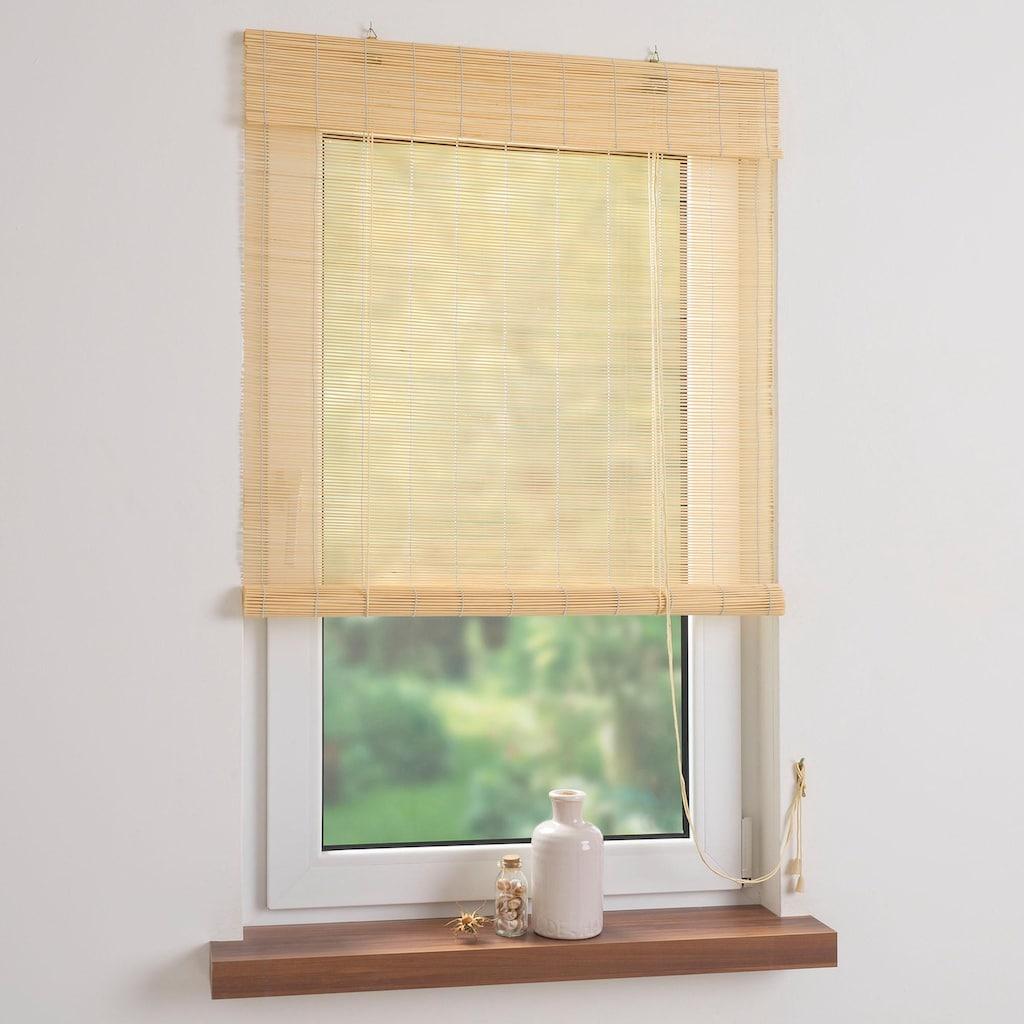Liedeco Seitenzugrollo »Bambus«, Lichtschutz, Bambusrollo