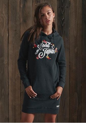 Superdry Sweatkleid, Folk Sweatkleid mit Blütenprint und Kapuze kaufen
