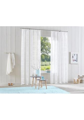 my home Gardine »Assen«, Vorhang, Fertiggardine, transparent kaufen