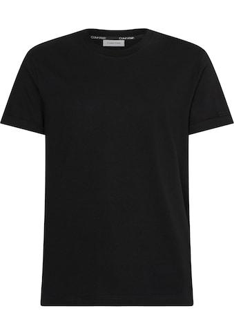 Calvin Klein T-Shirt »TURN-UP LOGO SLEEVE T-SHIRT« kaufen