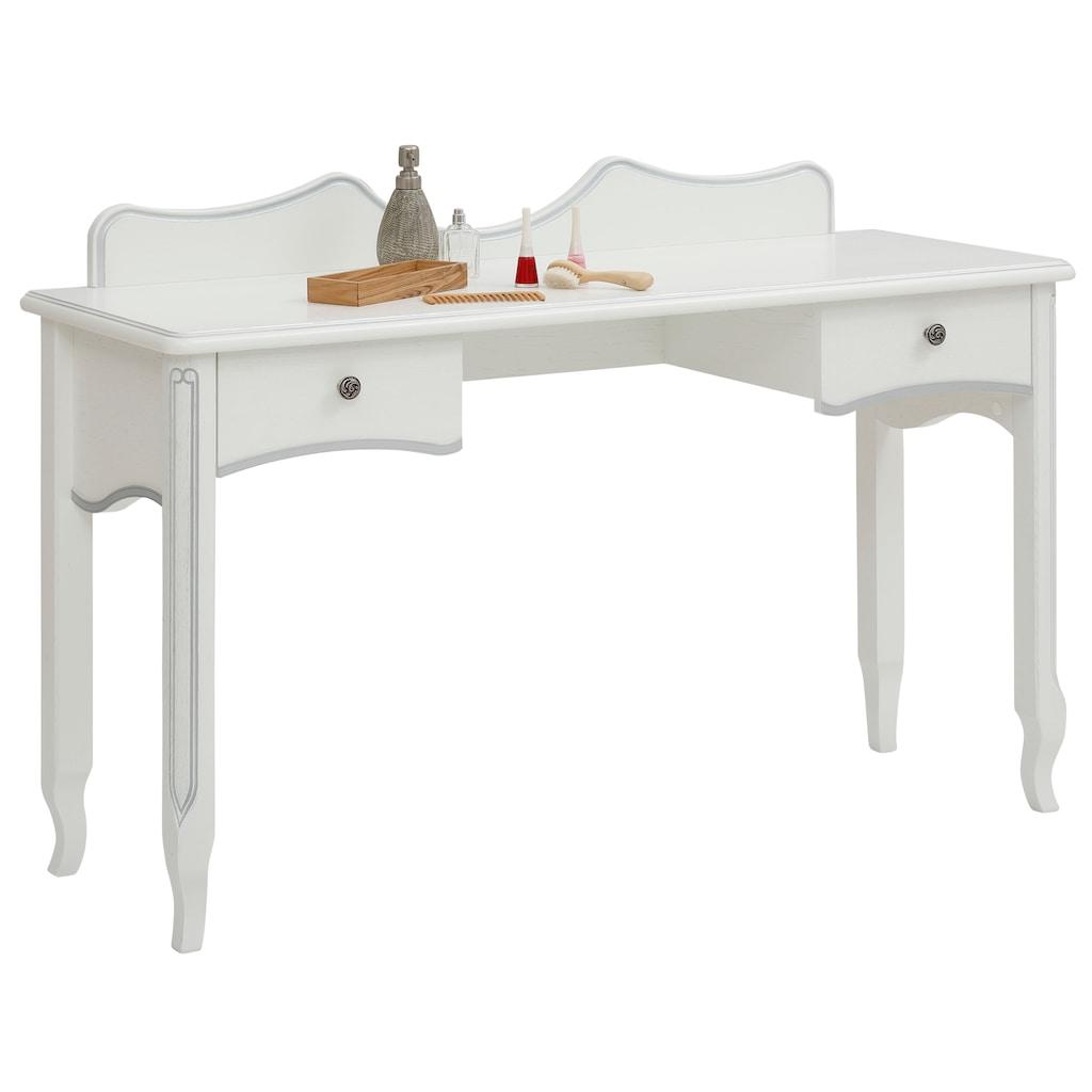 DELAVITA Schminktisch »Laura«, im königlichen Stil, Konsolentisch, auch als kleiner Schreibtisch geeignet