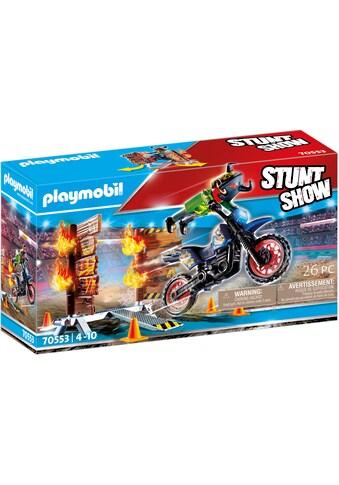 Playmobil® Konstruktions-Spielset »Motorrad mit Feuerwand (70553), Stuntshow« kaufen