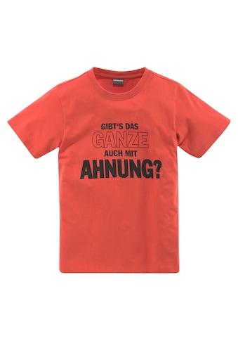 KIDSWORLD T-Shirt »GIBT´S DAS GANZE AUCH MIT AHNUNG?« kaufen