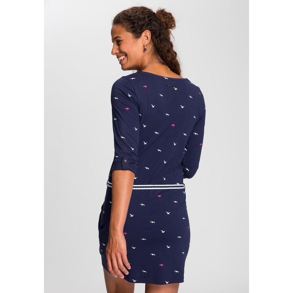 KangaROOS Jerseykleid, (Set, mit abnehmbarem Gürtel), im sommerlichen Print