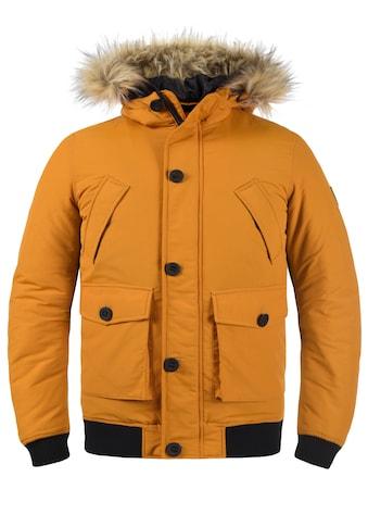 Solid Winterjacke »Frio«, Winterjacke mit Kapuze und abnehmbarem Kunstell kaufen