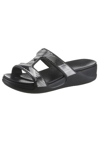 Crocs Badepantolette »Monterey Shimmer SO«, im Metallic Look kaufen