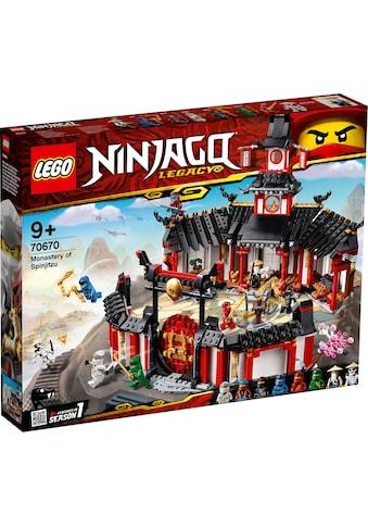 """LEGO® Konstruktionsspielsteine """"Kloster des Spinjitzu (70670), LEGO® NINJAGO®"""", Kunststoff, (1070 - tlg.) kaufen"""