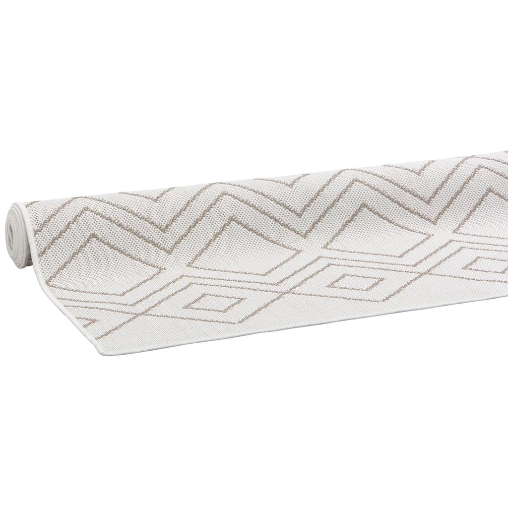 OTTO products Teppich »Manni«, rechteckig, 5 mm Höhe, In-und Outdoor geeignet, Wohnzimmer