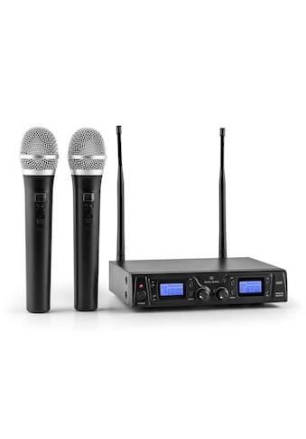 Malone UHF Funkmikrofon Set 2 Kanal 50m XLR Klinken Aux Ausgang »Duett Pro V1« kaufen