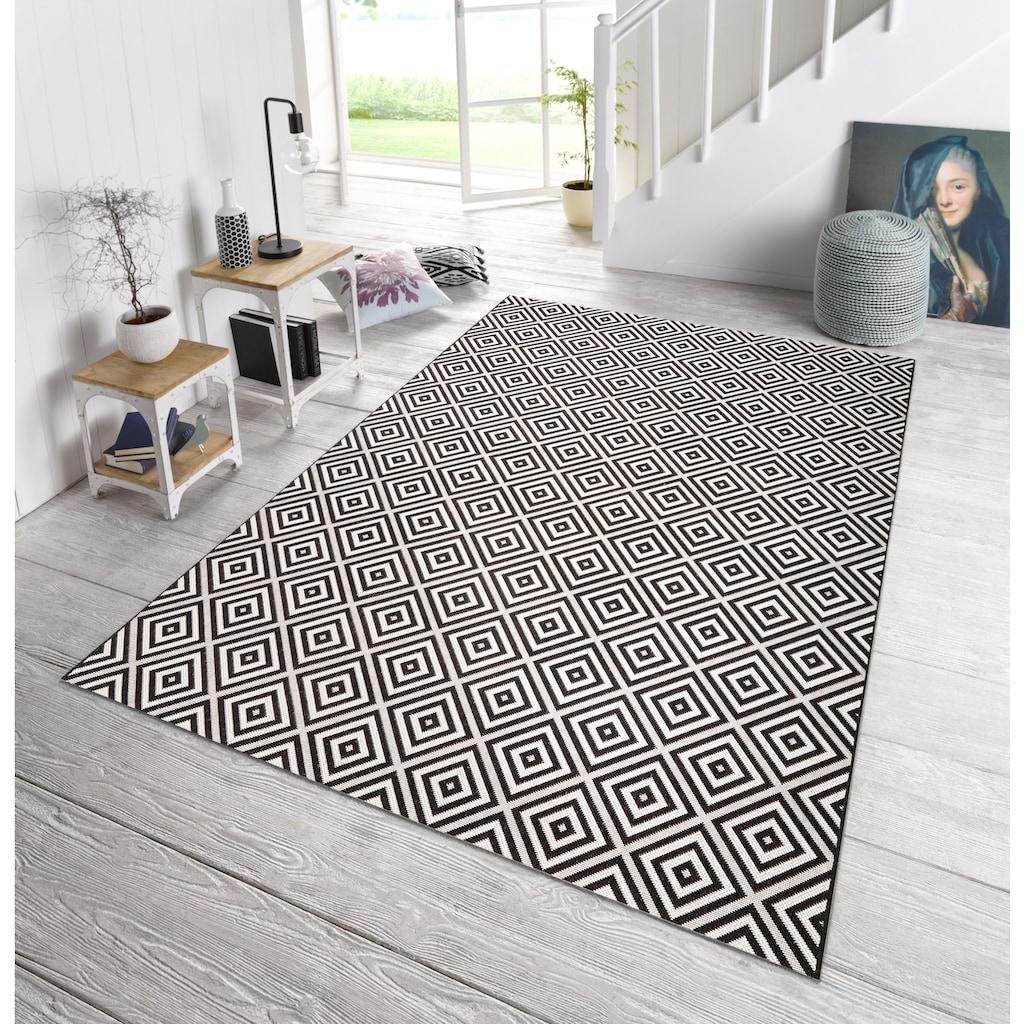 bougari Teppich »Karo«, rechteckig, 8 mm Höhe, Sisal-Optik, In- und Outdoorgeeignet, Wohnzimmer
