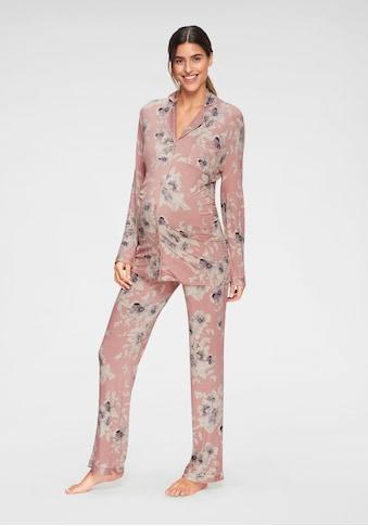 LASCANA Umstandspyjama, mit Knopfleiste und Raffung kaufen