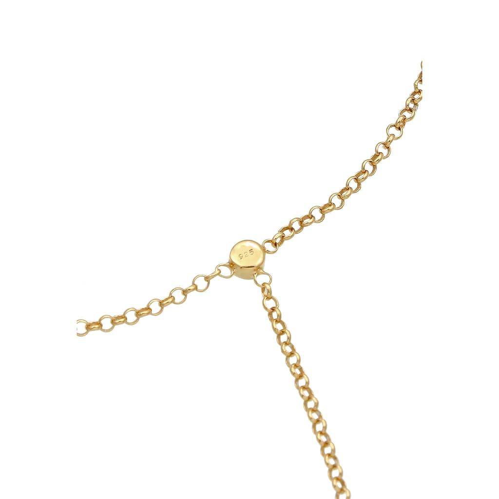 Elli Armband »Handchain Basic Kristalle 925 Silber«