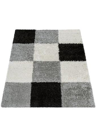 Paco Home Hochflor-Teppich »Mango 316«, rechteckig, 35 mm Höhe, Moderner Hochflor Shaggy Teppich, Wohnzimmer kaufen