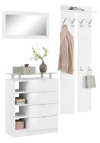 borchardt Möbel Garderoben-Set »Dolly«, (Set, 3 tlg.), mit Metallgriffen und Hochglanzfronten kaufen