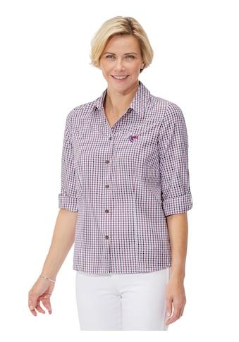 Classic Bluse mit Knöpfen in Horn - Optik kaufen