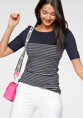 AJC Kurzarmpullover, in modischem Streifen-Look kaufen