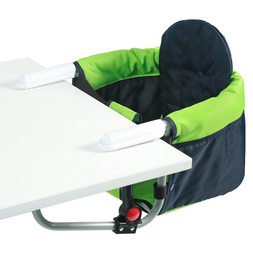 CHIC4BABY Tischsitz »Relax green/navy«, mit universellem Befestigungssystem