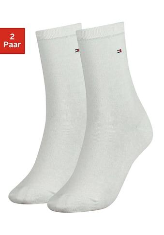Tommy Hilfiger Socken, (2 Paar), mit flacher Zehennaht kaufen