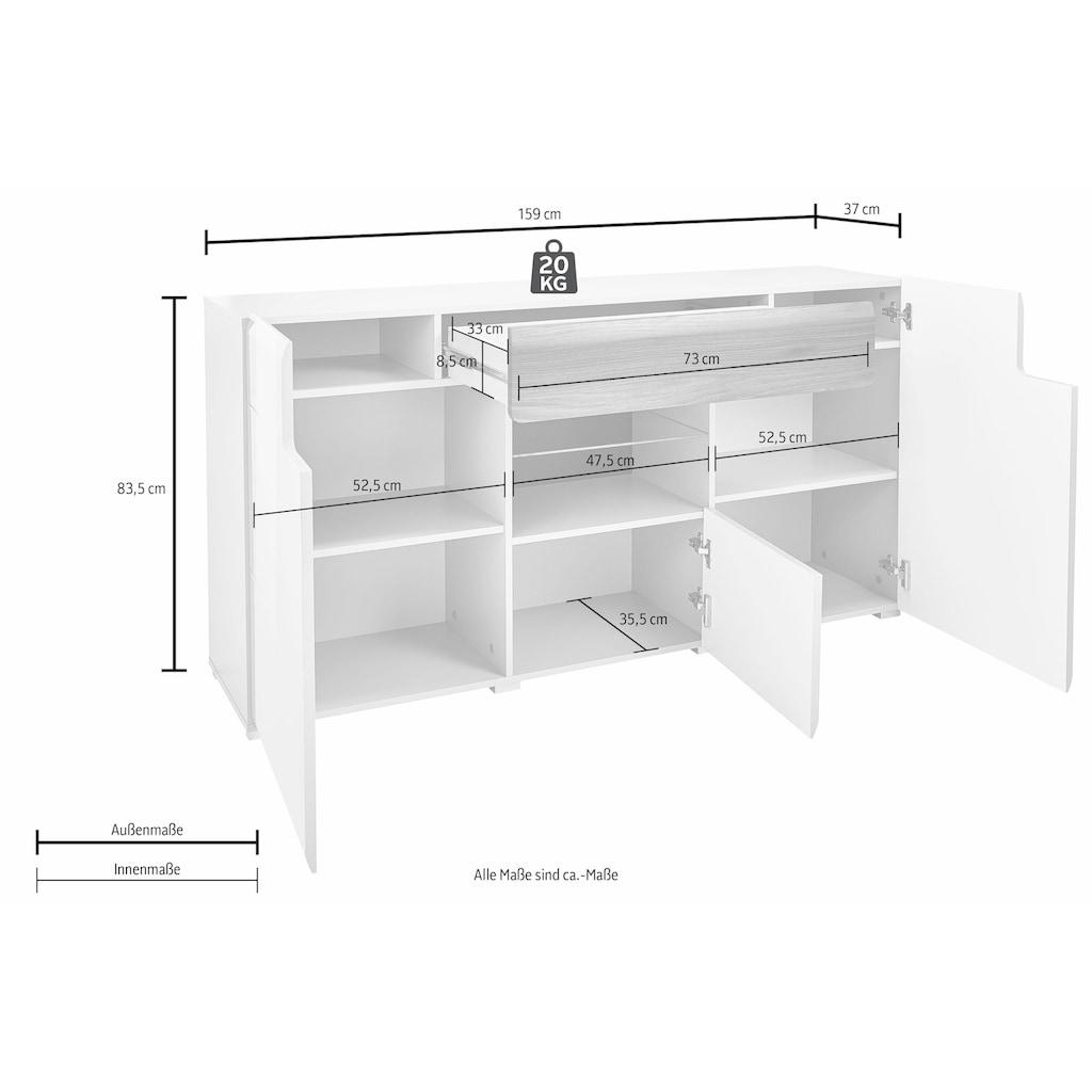 TRENDMANUFAKTUR Sideboard »Toledo«, Breite 159 cm