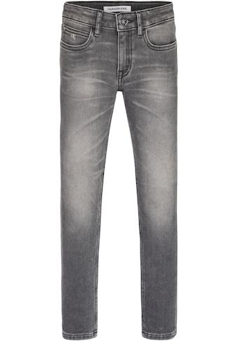Calvin Klein Jeans Stretch-Jeans »SKINNY MR ATH GREY STRETCH«, in cooler grauer Waschung kaufen