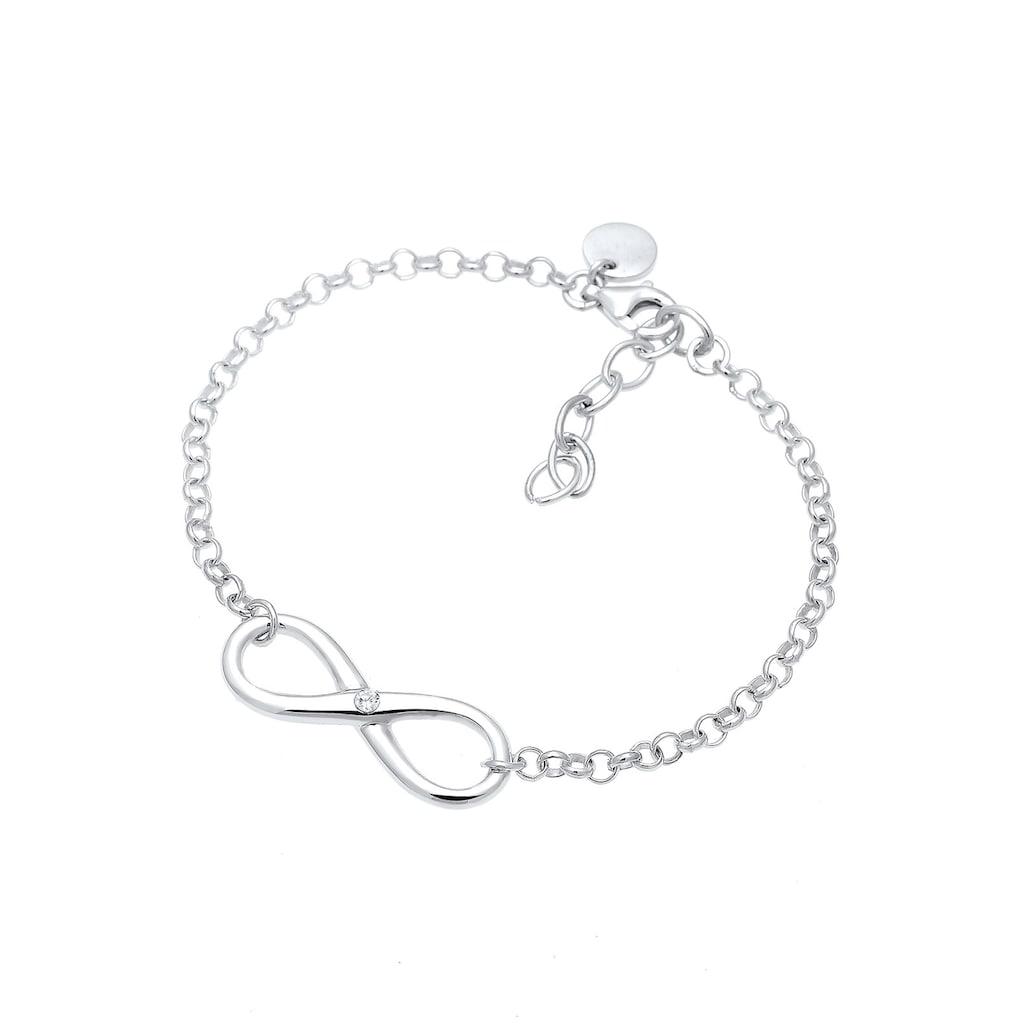 Elli Armband »Infinity Zirkonia 925 Sterling Silber«