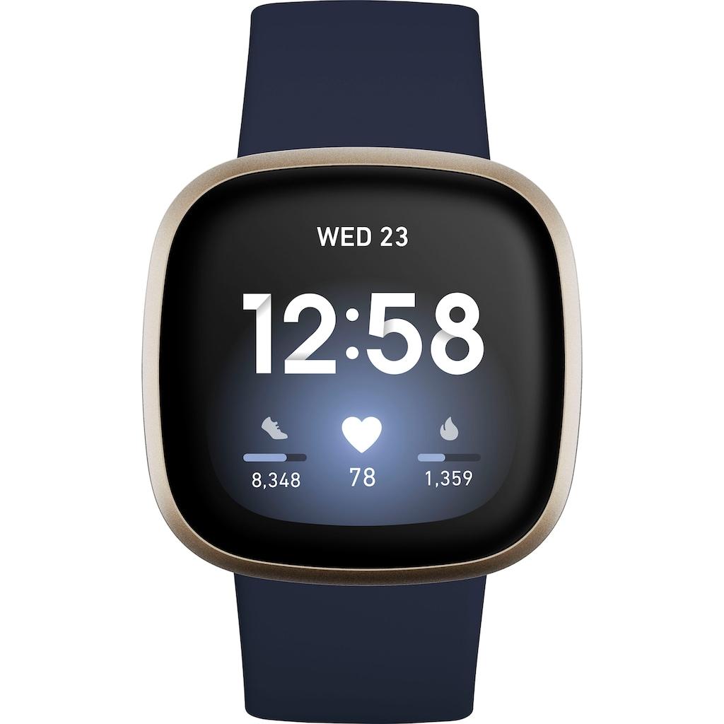 "fitbit Smartwatch »Versa 3« (4,32 cm/1,7 "", FitbitOS5"