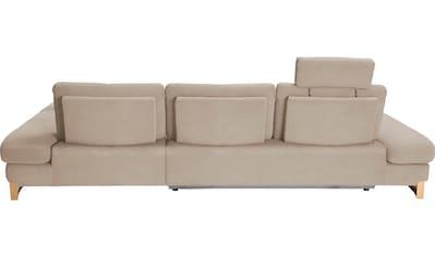 ADA trendline Ecksofa, mit Recamiere, inkl. Sitztiefenverstellung und Kopfstütze, wahlweise mit Bettfunktion kaufen