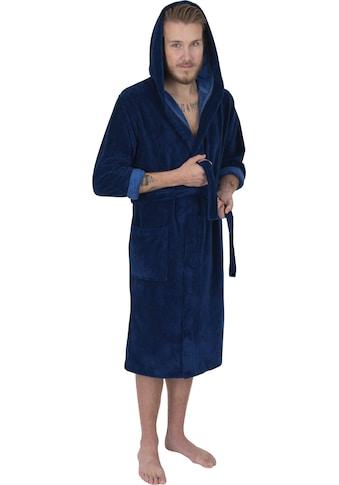 Wewo fashion Herrenbademantel »1018«, in bequemer Langform kaufen