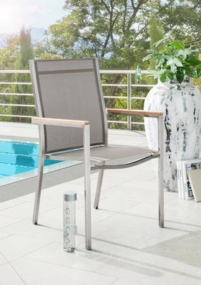 Balkon Garnitur aus Metall und Stein