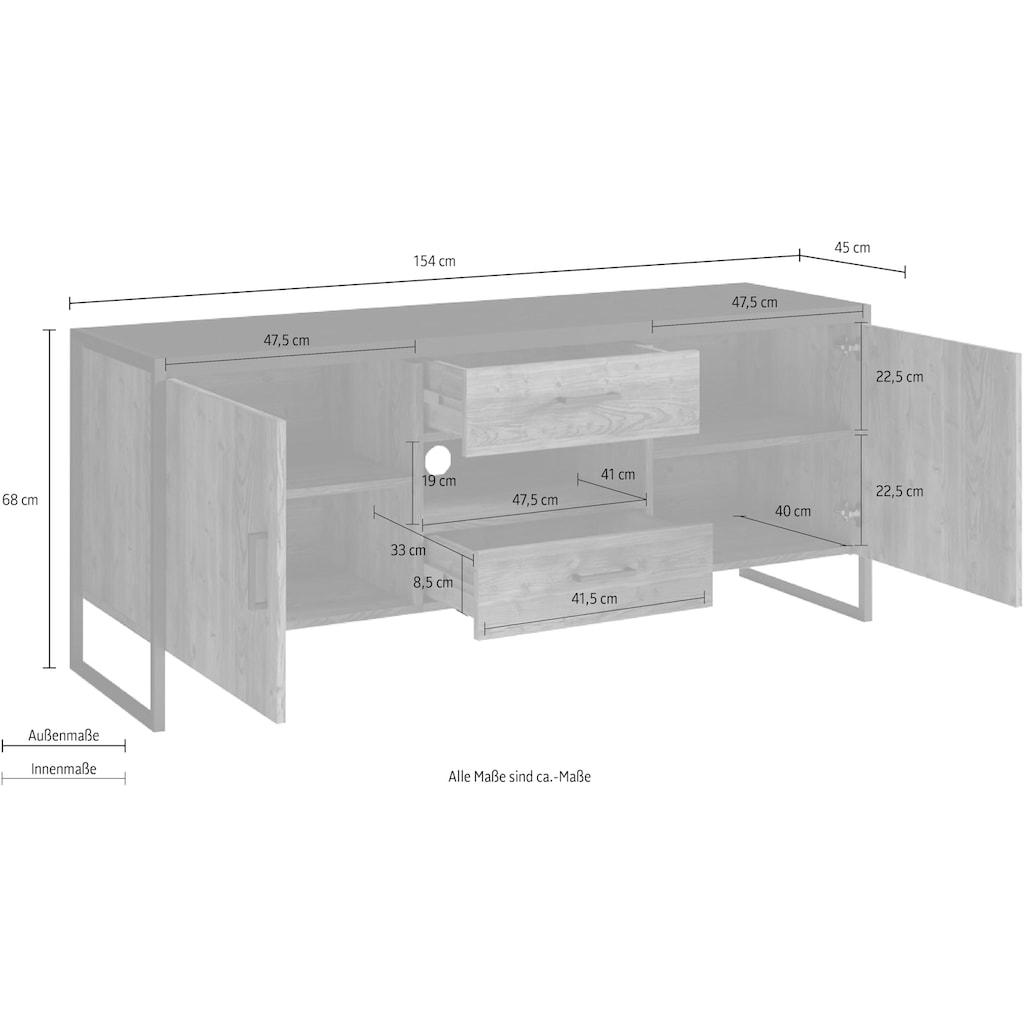 TRENDMANUFAKTUR Lowboard »Tarabo«, Breite 154 oder 204 cm