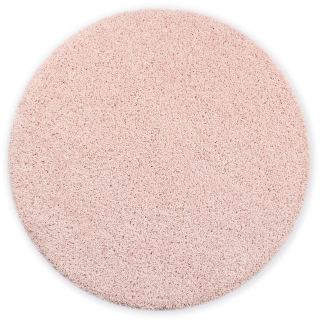 Hochflor-Teppich, »Shaggy 30«, Home affaire, rund, Höhe 30 mm, maschinell gewebt