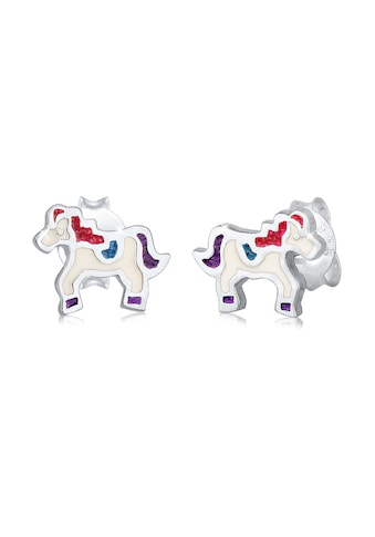 Elli Paar Ohrstecker »Kinder Pony Pferd Emaille Pastell 925er Silber« kaufen