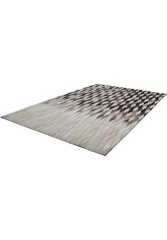 Kayoom Fellteppich »Lavish 510«, rechteckig, 8 mm Höhe, Patchwork-echtes Leder-Fell, Wohnzimmer kaufen