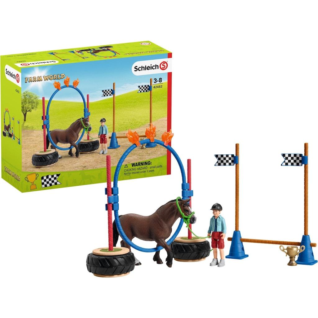 """Schleich® Spielfigur """"Farm World, Pony Agility Rennen (42482)"""""""
