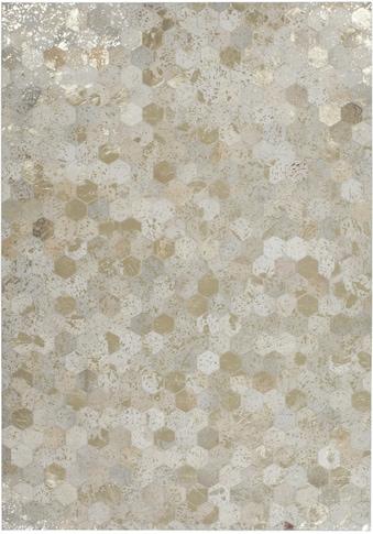 Kayoom Lederteppich »Spark 210«, rechteckig, 8 mm Höhe, Patchwork-echtes Leder-Fell, Wohnzimmer kaufen